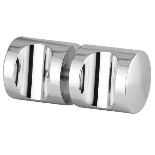 Concave Style Solid Shower Glass Door Knob Handles Shower Accessories