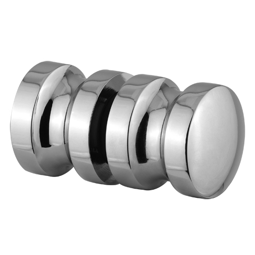 Indented Style Bathroom Glass Shower Door Back To Back Knob