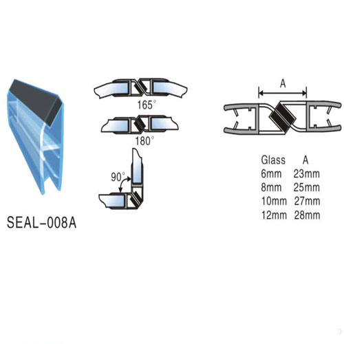 Weather Strips PVC Profiles Plastic Magnetic Seals For Shower Door