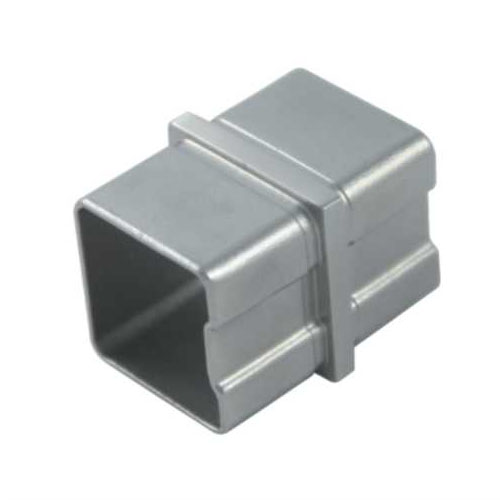 Stainless steel square tube connector joint