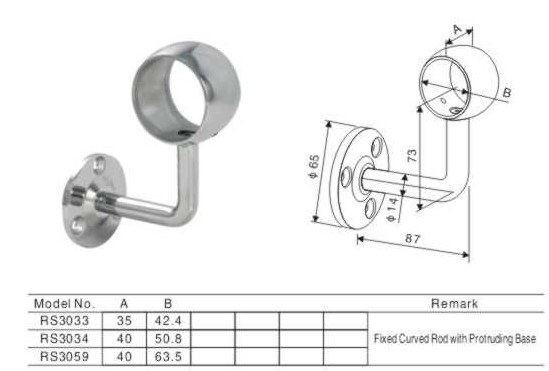 Railing Support Pipe Handrail Fitting Weld Fittings
