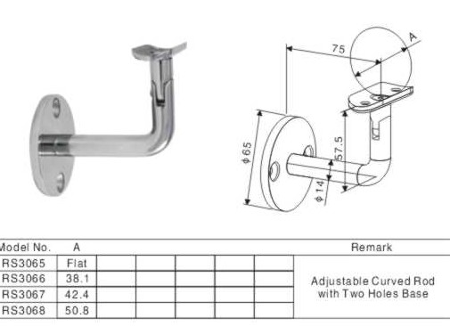 Adjustable Stainless Steel Pipe Mounting Brackets