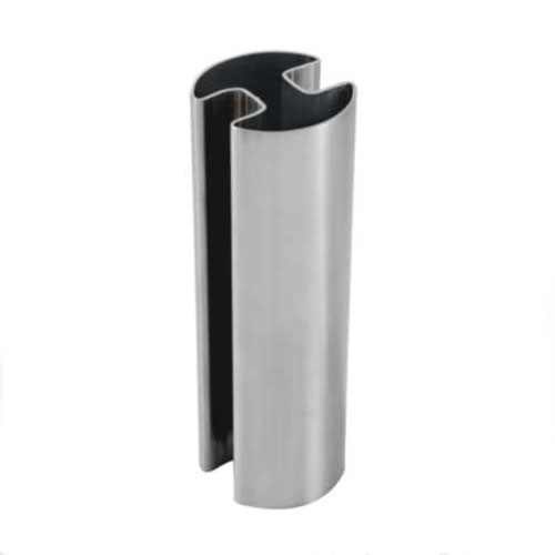 Best selling Stainless Steel Double Slot Round Tube