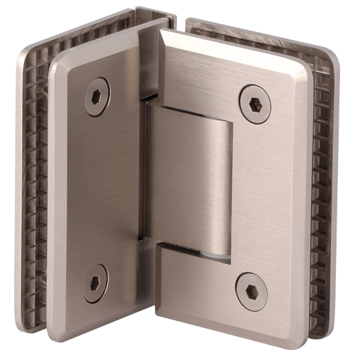 90 Degree Glass to Glass Beveled Chrome Plated Shower Hinge