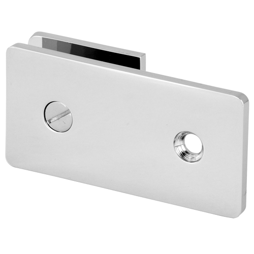180 Degree Straight square Clip with round conrner - Wall to Glass