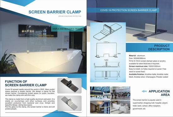 Screen Barrier Clamp