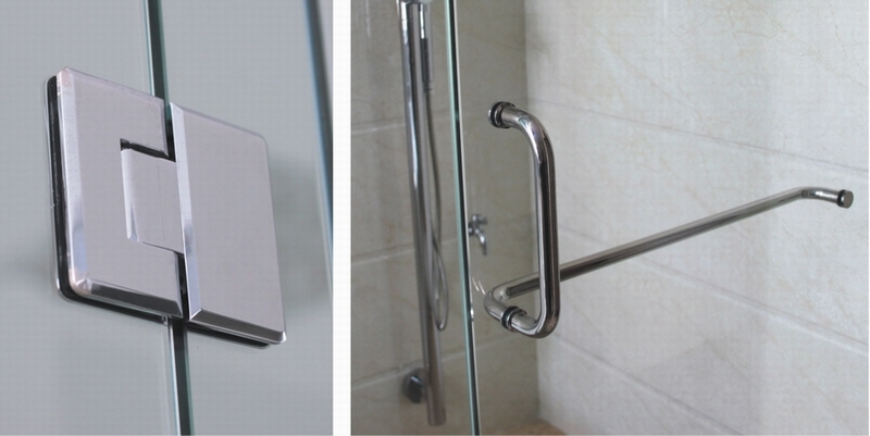 China Shower Door Hinges Glass Door Handle Glass Clamp